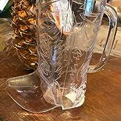 "6 1//2/"" 17 oz. Clear Plastic Cowboy Boot Mugs 12 Pack"