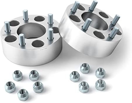 """12x1.5 Studs 4pc 1/"""" Adapter Spacers allows 5x4.5 Cars to use 5x5 Wheels"""