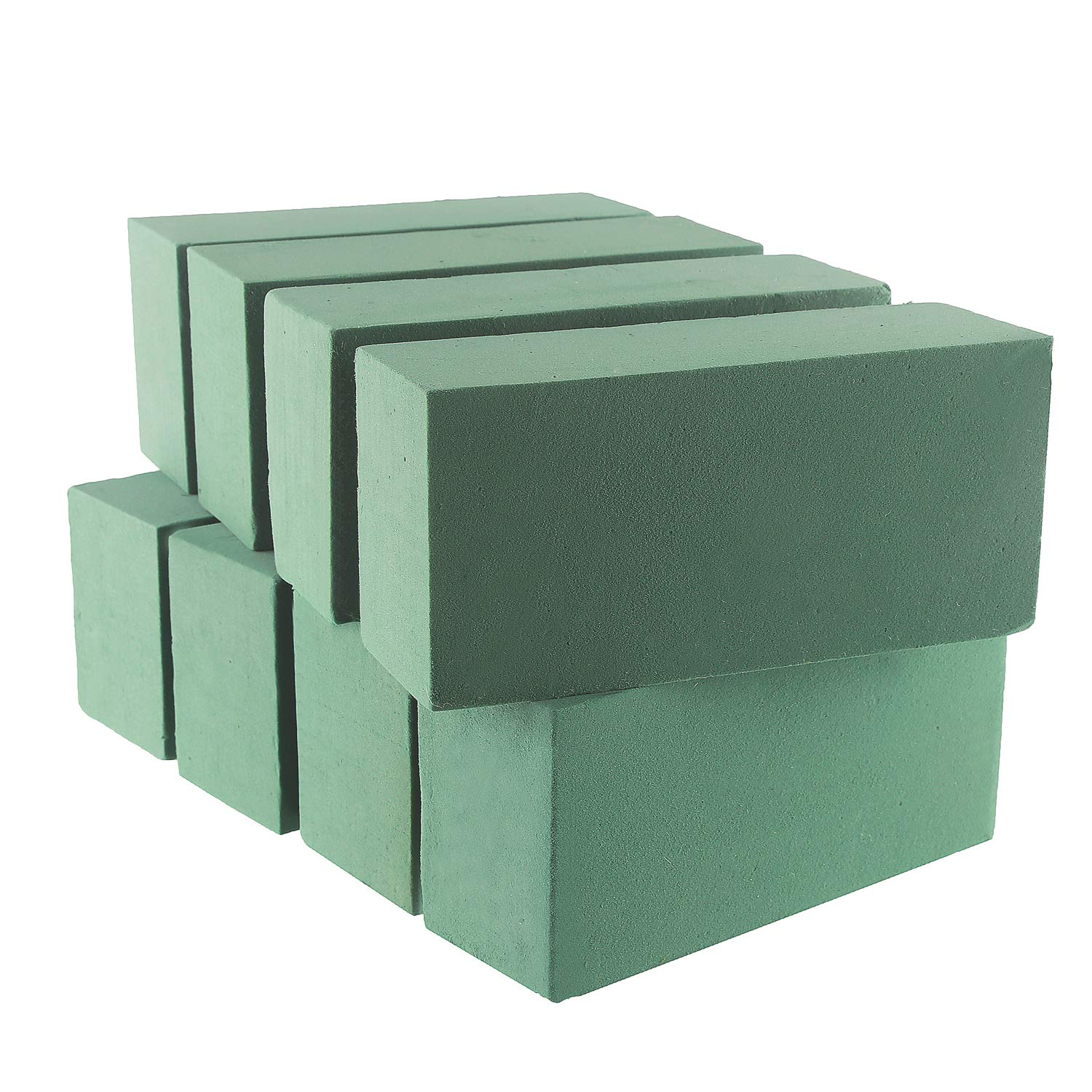 VEYLIN 8 PCS Wet Floral Foam Bricks Green Styrofoam Blocks for Fresh Cut Floral Arrangements 4336860732
