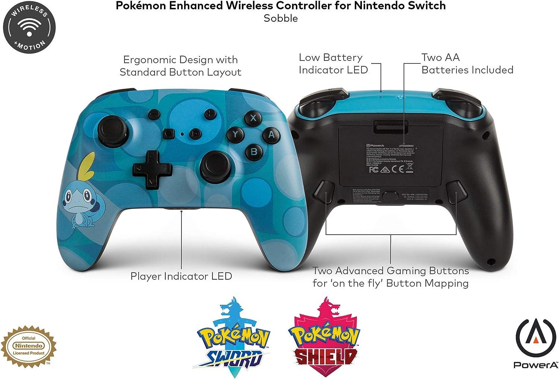 PowerA - Mando inalámbrico mejorado Pokémon Sobble (Nintendo ...