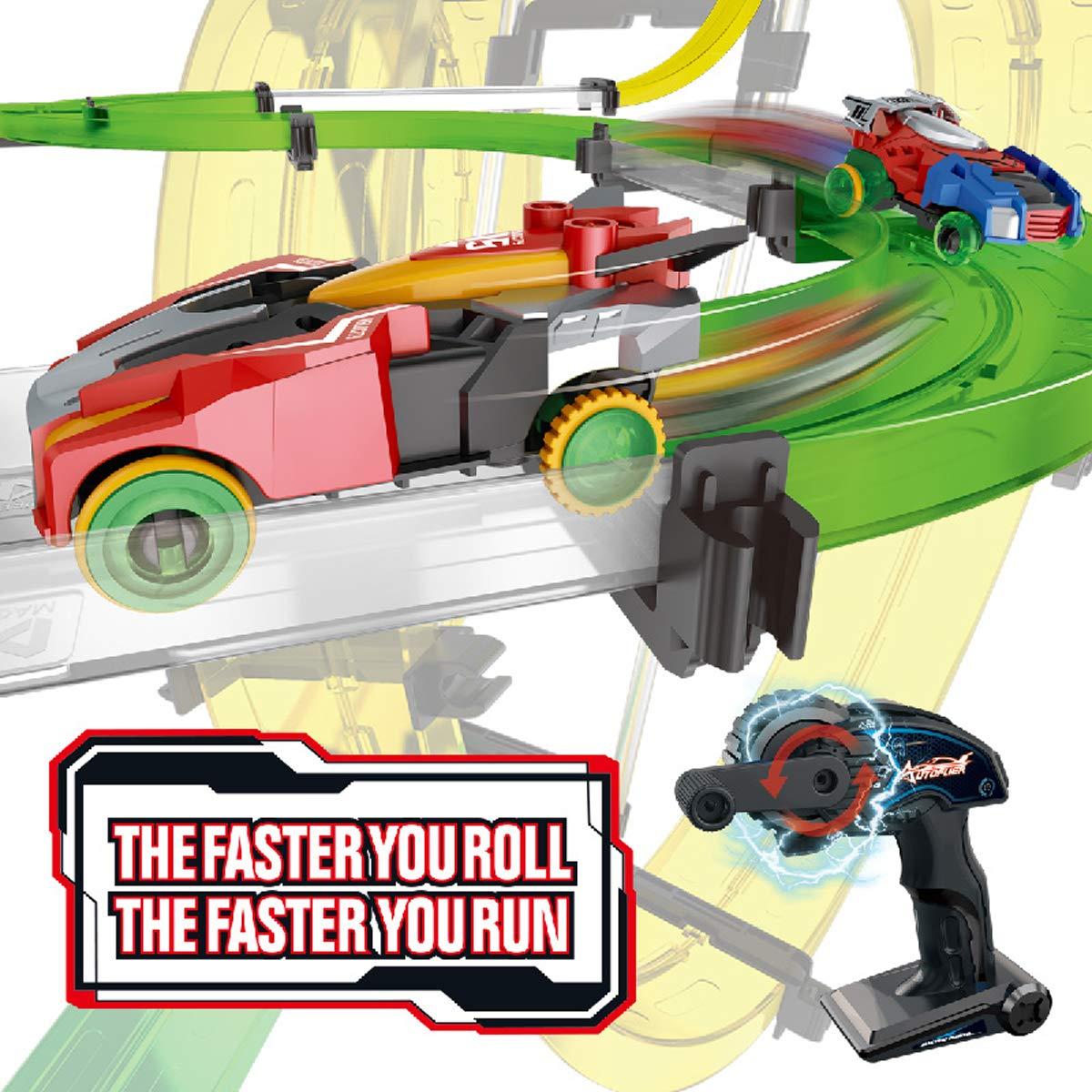 Remoking Rail Race RC Track Car Toys 860cm Build Your Own 3D Super
