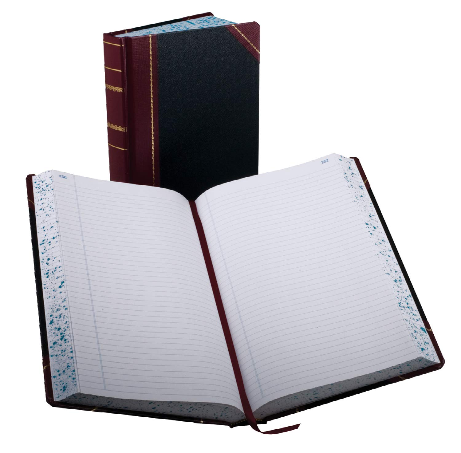 Boorum & Pease 9-500-R Record/account book, black/red cover, record rule, 14-1/8 x 8-5/8, 500 pages Esselte Corporation 9500R