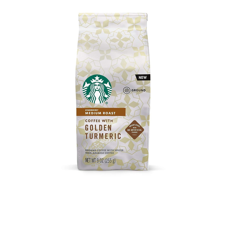Starbucks Medium Roast Ground Coffee with Golden Turmeric — 6 bags (9 oz. each)