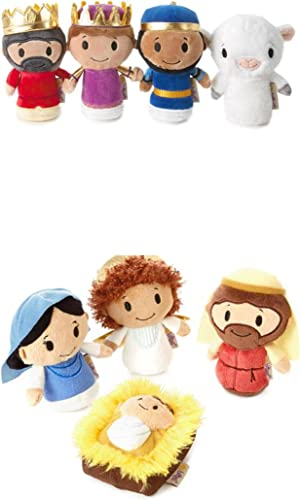 itty bittys Complete Nativity Set Stuffed Animals Nativity,Wisemen and Sheep