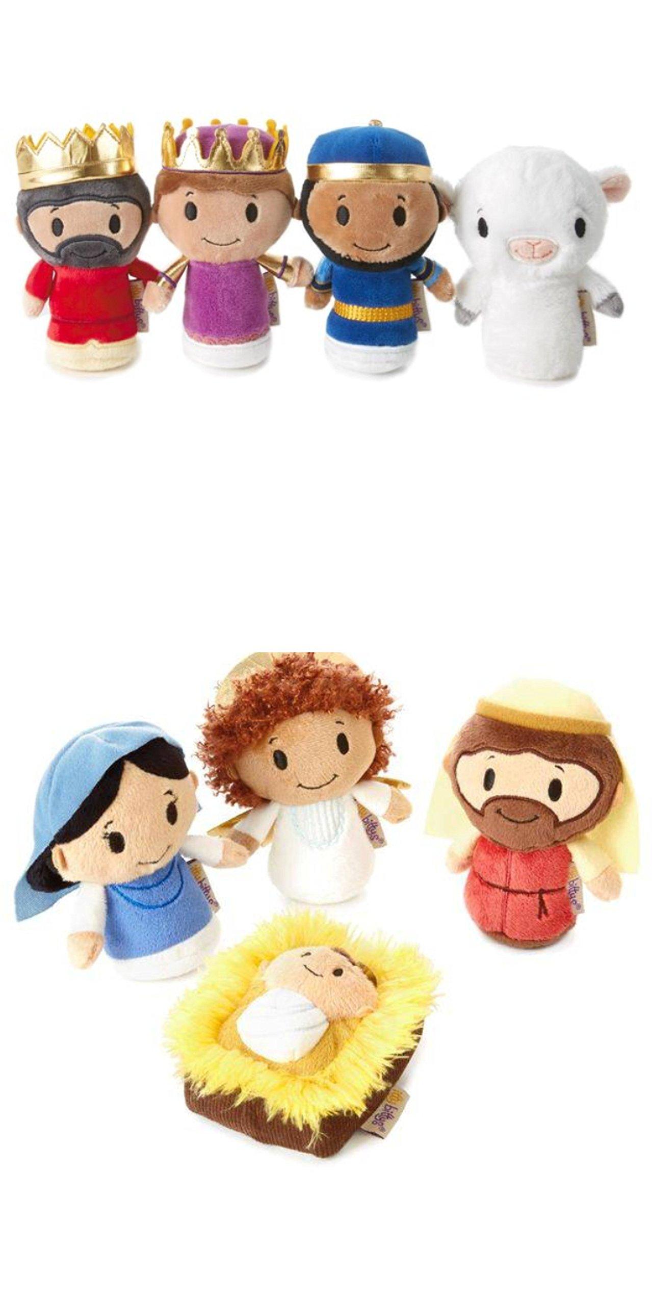itty bittys Complete Nativity Set Stuffed Animals (Nativity,Wisemen and Sheep)