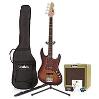 Louisiana Bass Guitar + SubZero V35B Amp Pack Sunburst