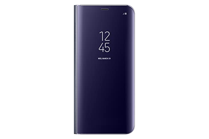 wholesale dealer 088ae 263ce Samsung EF-ZG955CVEGUS Clear View Standing Cover Flip Case for Galaxy S8+  ONLY with kickstand, Orchid Grey