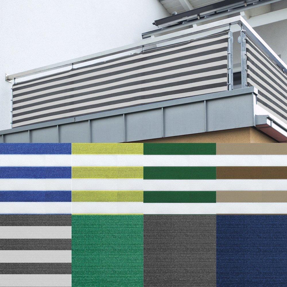 Balkon Sichtschutz nach Maß in Grün Meterware langlebiges & UV