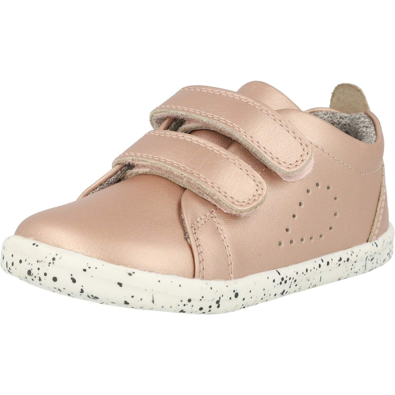 Bobux i-Walk Grass Court Oro Rosa Cuero Ni/ño Los Primeros Caminantes Zapatos