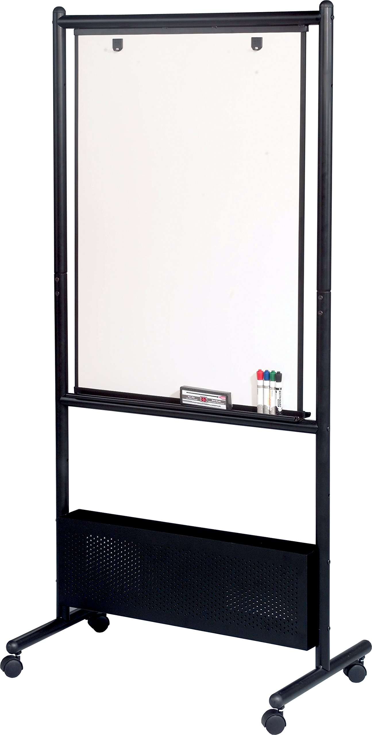 Best-Rite Mobile Nest Easel, Black Frame, Double Sided Dura-Rite HPL Whiteboard, 72''H x 34.75''W x 24''D (781) by Best-Rite