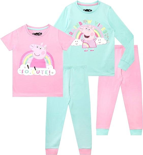 Peppa Pig Pijamas para niñas Paquete de 2 de Ajuste Ceñido ...