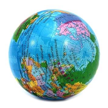 VANKER del globo del mundo Bola de la tensión de espuma terapia de ...