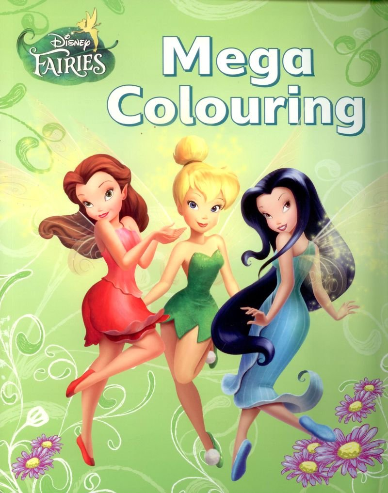 Disney Fairies/Tinkerbell: Mega Colouring Book: Amazon.co.uk: Toys ...
