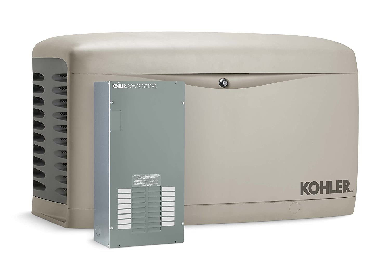 Amazon.com : Kohler 14RESAL-100LC16 14, 000-Watt Air-Cooled Standby  Generator with 100 Amp/16-Circuit Automatic Transfer Switch : Standby Power  Generators ...