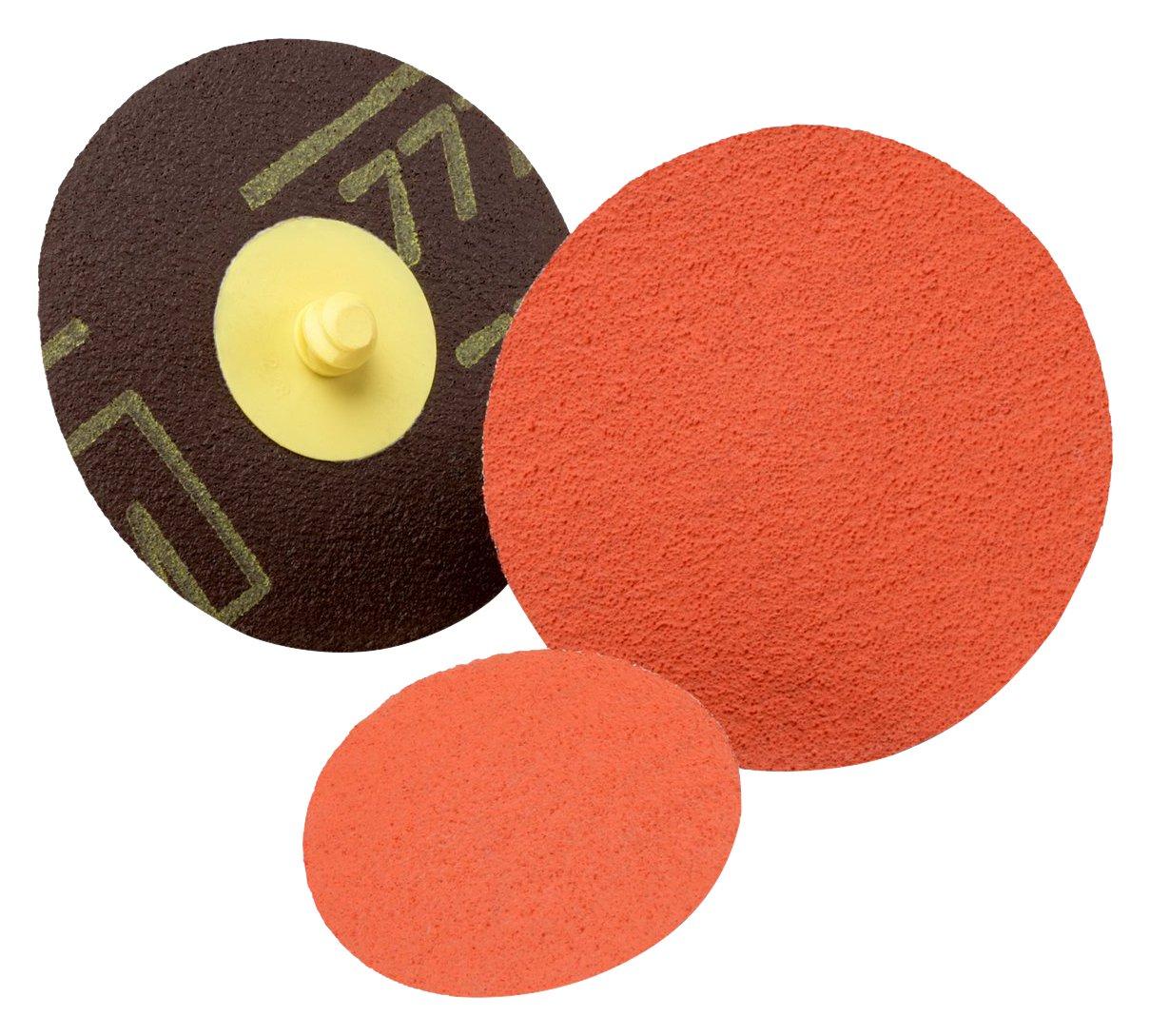 Abrasive Grit 1-1//2 80 YF-weight 1.5 Diameter 30000 Rpm 3M Roloc 76773 RolocDisc TP 777F 1.5 Diameter 1-1//2 80 YF-weight Pack of 50