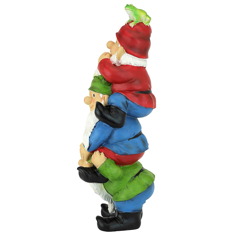 a colori poliresina Design Toscano Sulla scala a pioli Gnomo rampicante Gnomo Divertente statua da giardino 28 cm