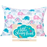 Little Sleepy Head Toddler Pillowcase - Elephants, 13x18 Inch