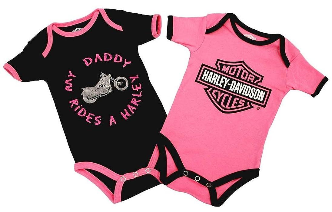 Harley Davidson Baby Clothes Classy Amazon HarleyDavidson Baby Girls Daddy Rides A Harley Creeper