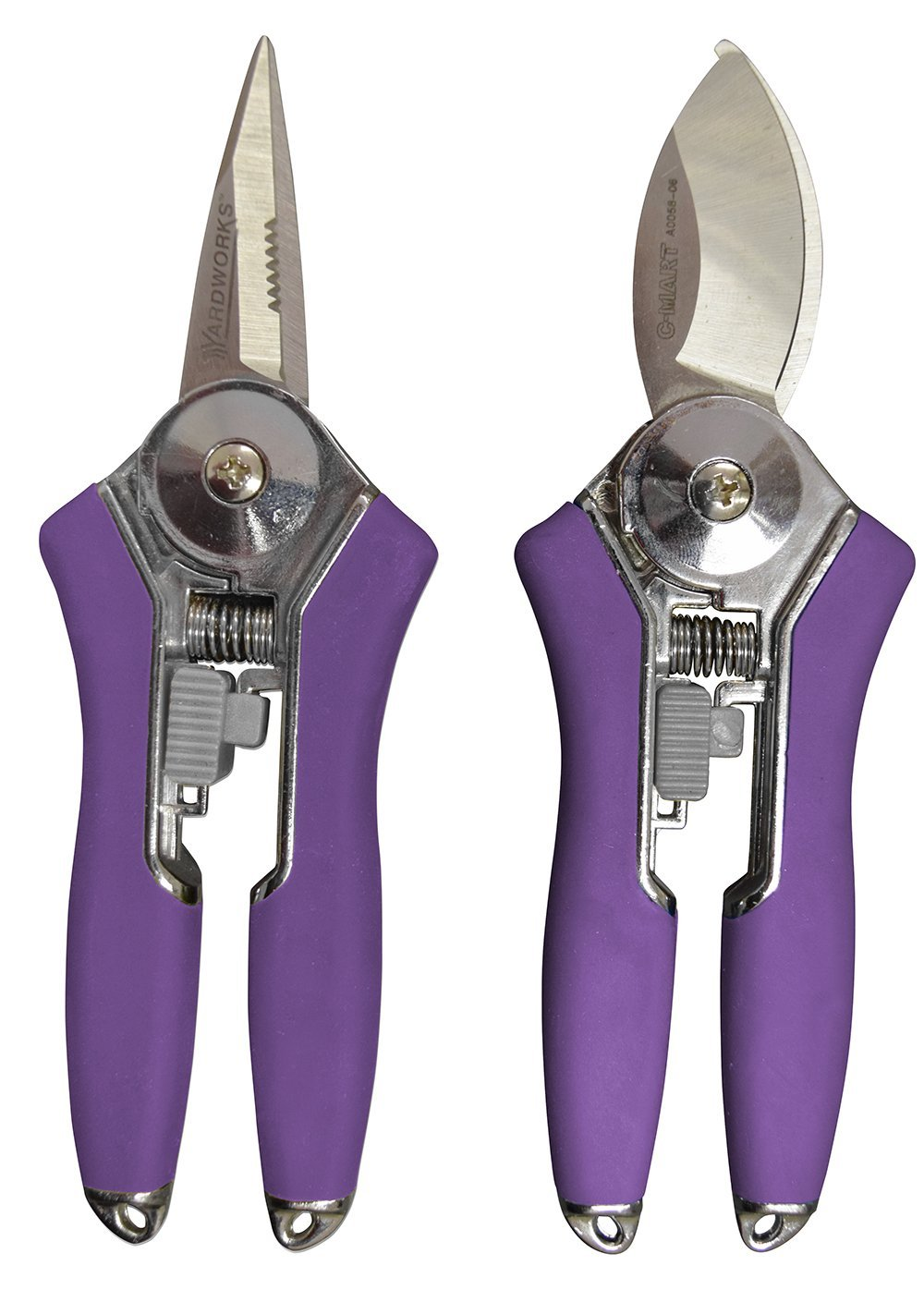 Radius Garden 2-Piece Pruning Tool Set - Includes Floral Shear and Mini Bypass Pruner, Purple