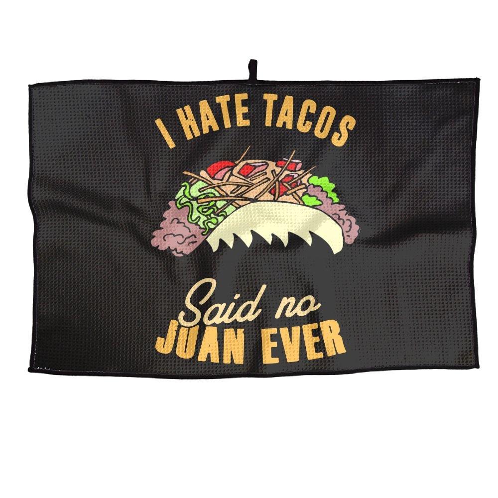 ゲームLife I Hate Tacos Said No Juan Ever Personalizedゴルフタオルマイクロファイバースポーツタオル   B07FC772HQ