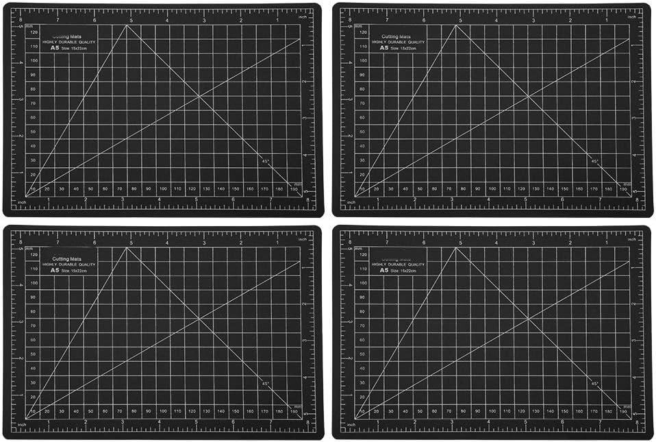 Cutting Pad A5 Cutting Mat 4Pcs Black Model Cutting Matz 22 x 15cm ...