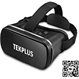 VR Headset, TEKPLUS Virtual Reality Headset 3D VR Goggles Glasses for 3D Movies Video and Games for 4.0-6.0 Inches IOS Apple iPhone and Android Smart Phones
