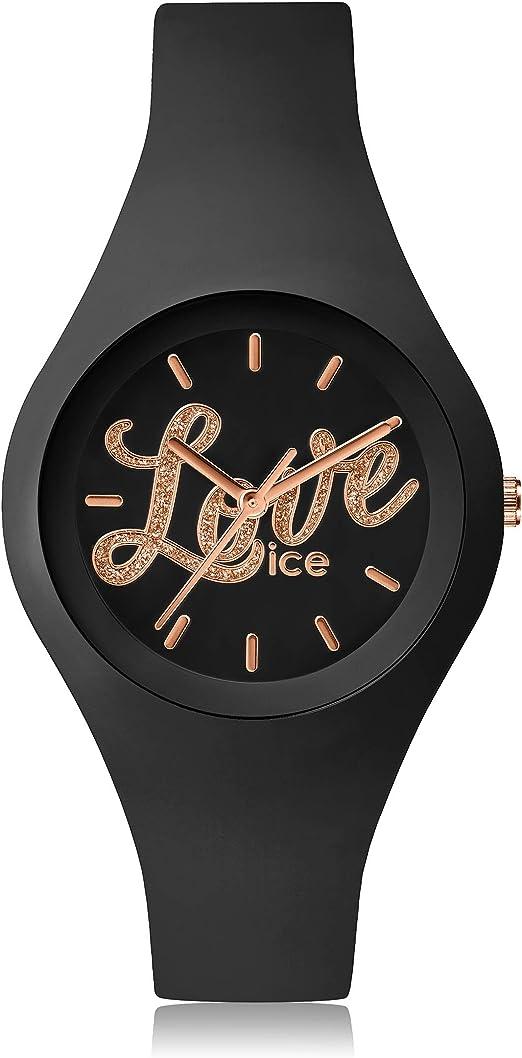 plutôt sympa meilleures chaussures la plus récente technologie Ice-Watch - ICE love 2016 Black Glitter - Montre noire pour ...