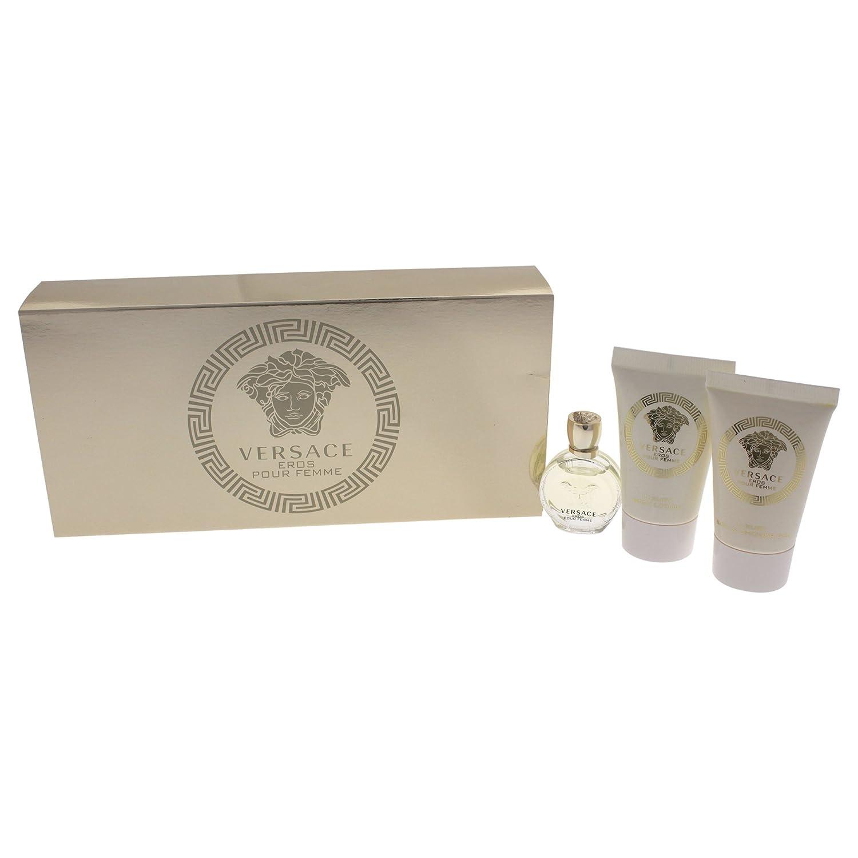 Versace Eros Pour Femme 3 Pieces Travel Kit - Eau De Parfum, Shower Gel & Body Lotion Continental Cosmetique W3VRE1-A