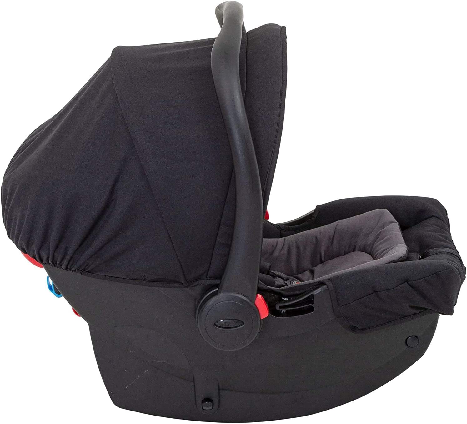 Graco Breaze Lite i-Size Travel System with Raincover Black Pushchair /& Car Seat, Birth to 3 Years Approx, 0-15kg