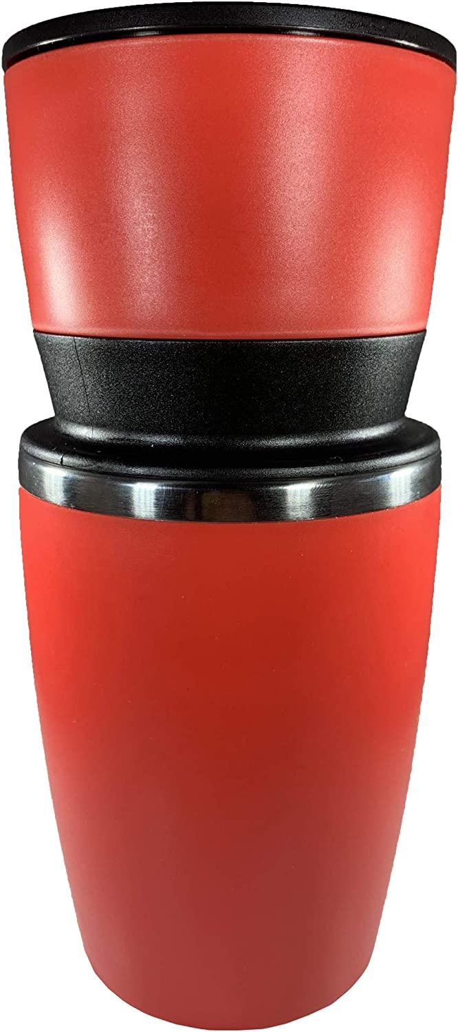 Portable Coffee Maker for Travel - Make your pour-over on the go or camping (includes Burr Grinder) - All in One Coffee Brewing