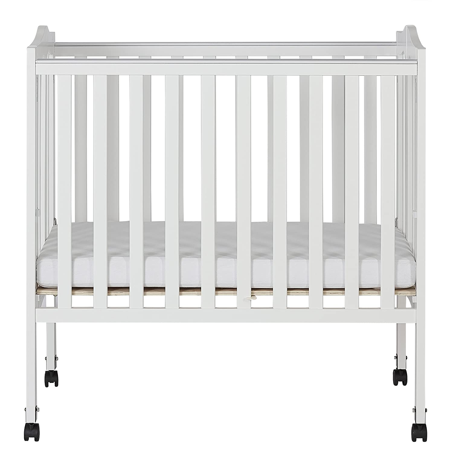 Dream On Me 2 in 1 Lightweight Folding Portable Stationary Side Crib 681-C