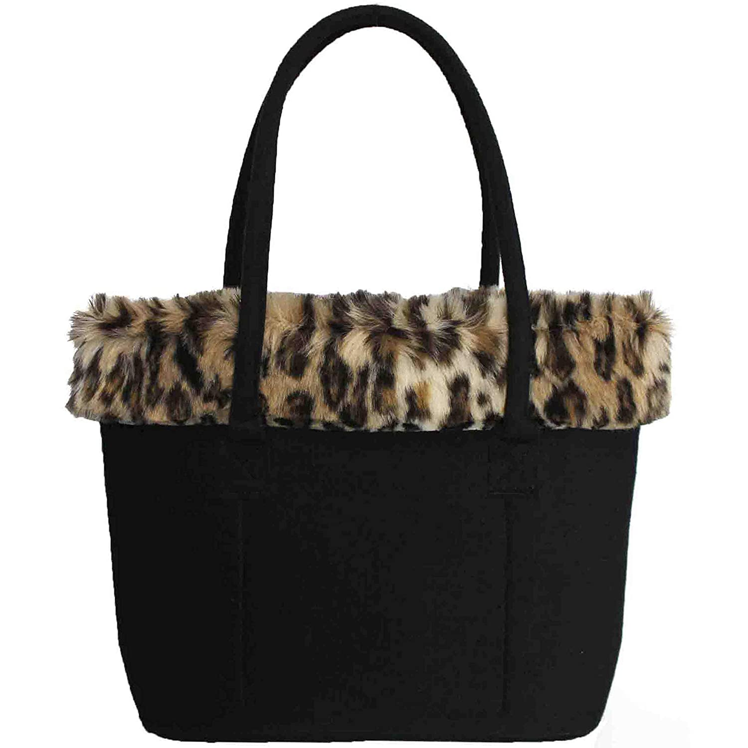 dab8f8699 FERETI Tote Bag Felt Leopard Wool Woman Animal Panther Animals Cat Bags L:  Amazon.co.uk: Shoes & Bags