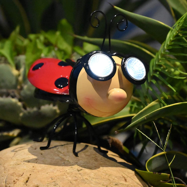 4-Pack Cute Ladybird Hand Painted Wall Hanging Ladybug Indoor Outdoor Decor