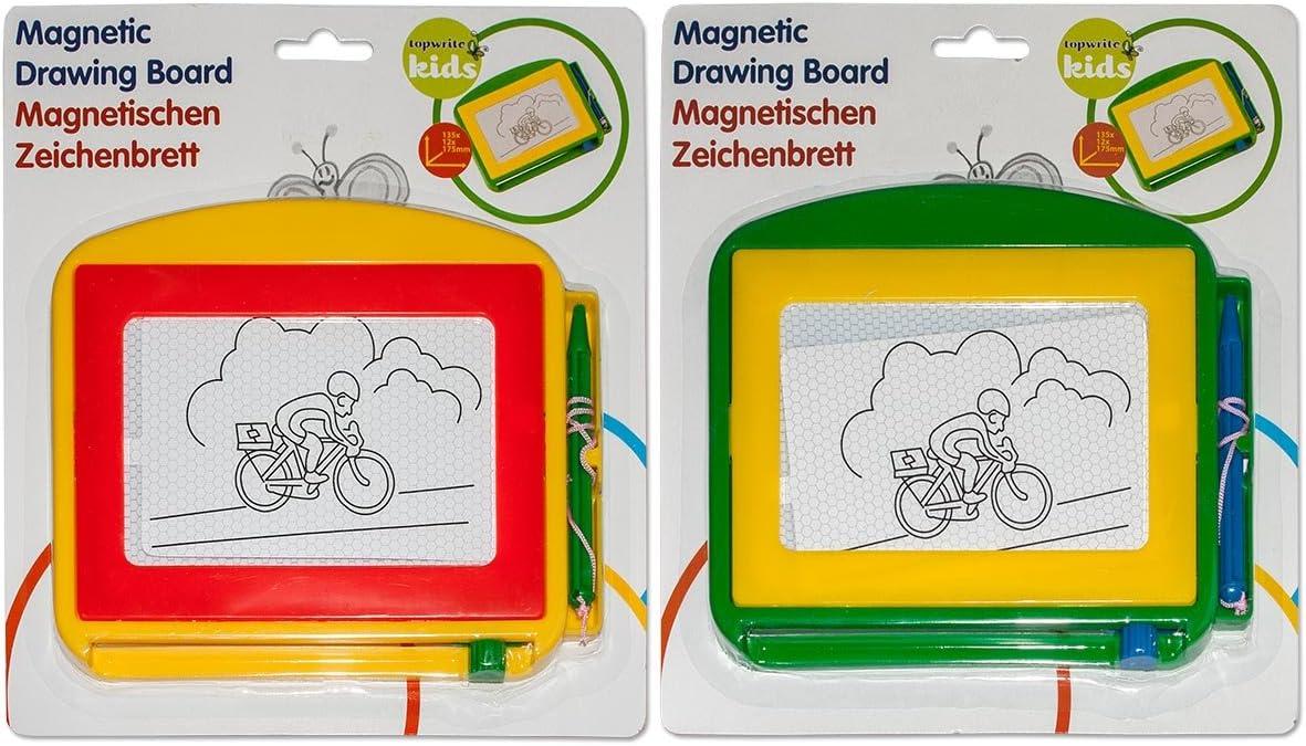 Diverse 2 x Magnettafel Zaubertafel Zeichentafel Schreibtafel Malen Maltafel 17,5x13,5cm