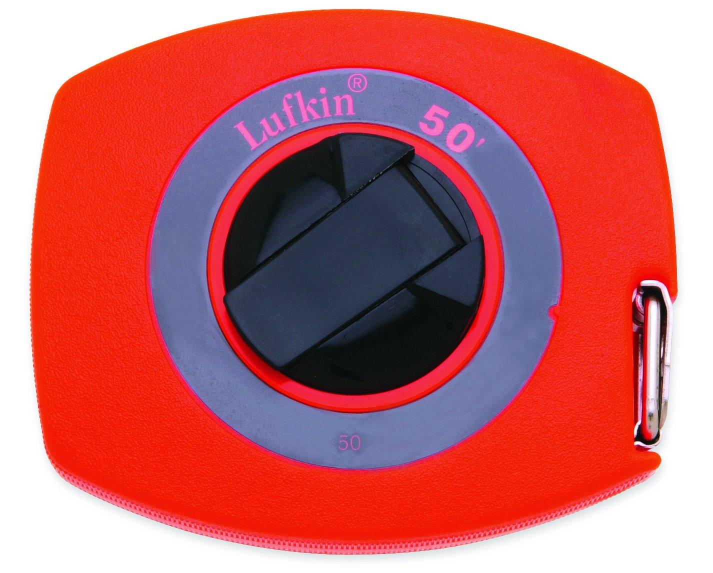 Lufkin 50 3/8-Inch x 50 Hi-Viz Lightweight Steel Tape