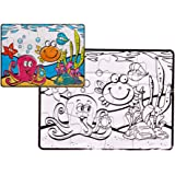 ThinkMax Sea Animals Puzzle and Painting Coloring Jigsaw Puzzle Set (12-Piece)