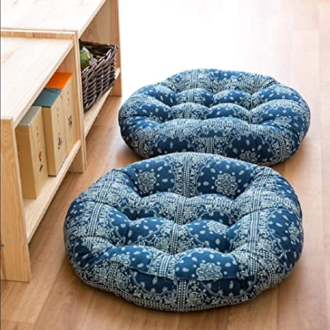 Enjoyable Amazon Com Japanese Style Linen Outdoor Round Seat Forskolin Free Trial Chair Design Images Forskolin Free Trialorg