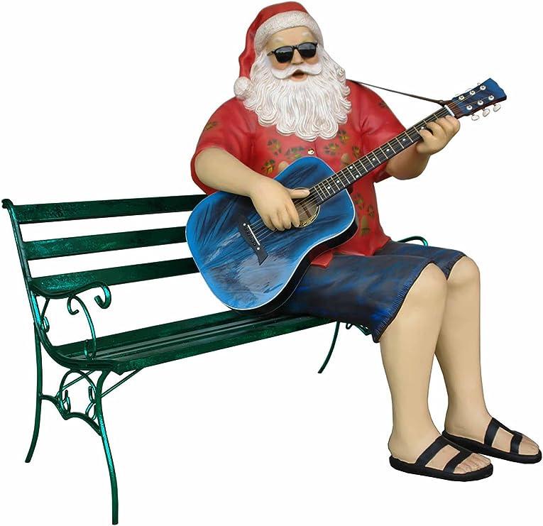Papá Noel sentado en vacaciones Estado de Ánimo toca a Guitarra ...