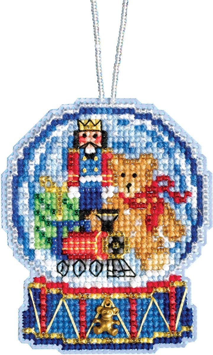 CHRISTMAS TREE GLOBE ORNAMENT MILL HILL WINTER HOLIDAY COLLECTION BEAD CROSS ST