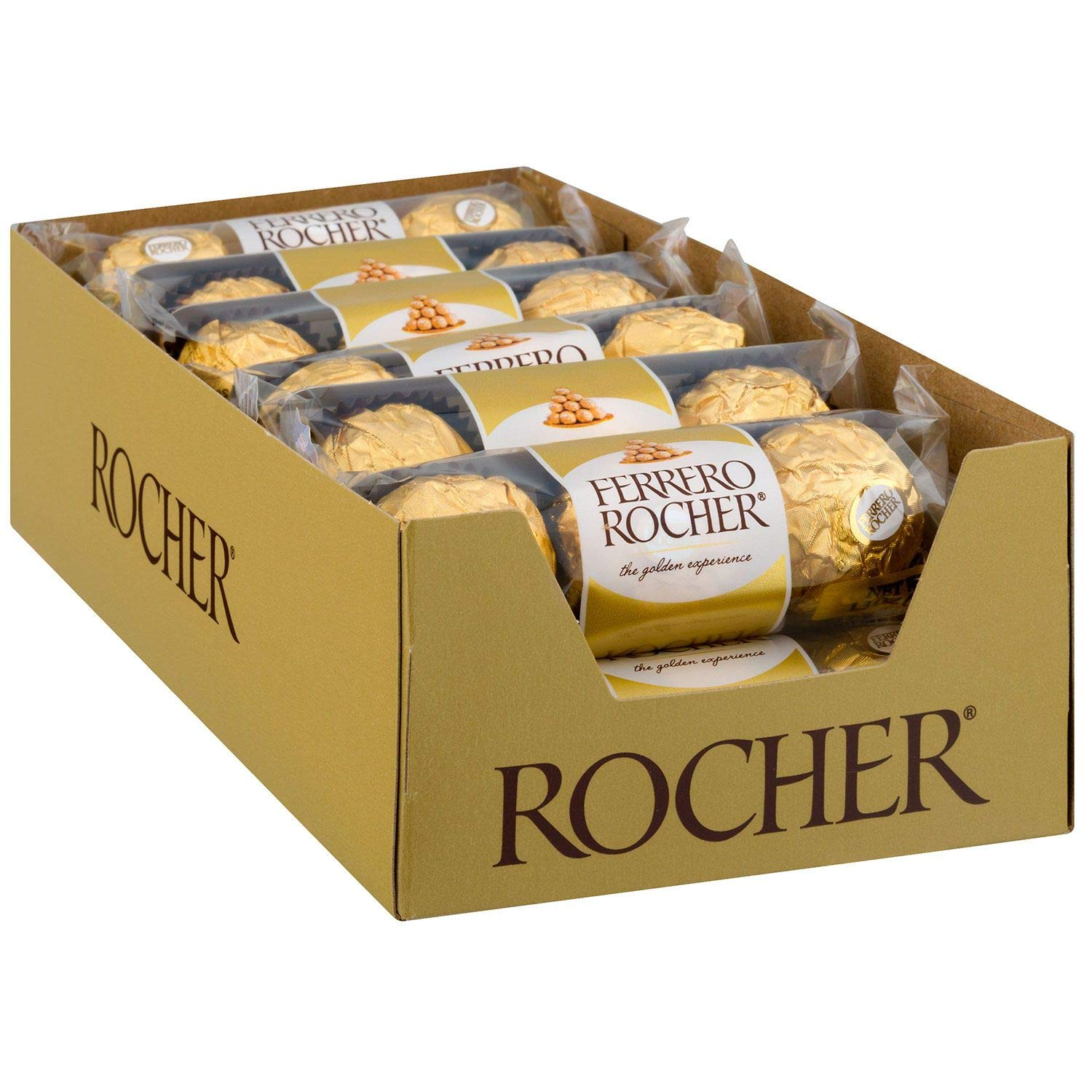 CDM product Ferrero Rocher Milk Chocolate 3 Pack, Case of 12 small thumbnail image