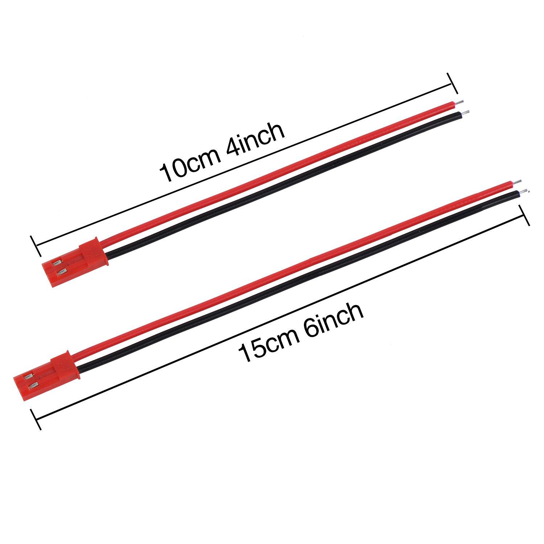 20 Paare 22 AWG JST Steckverbinder 2 Pin Männlich: Amazon.de: Elektronik