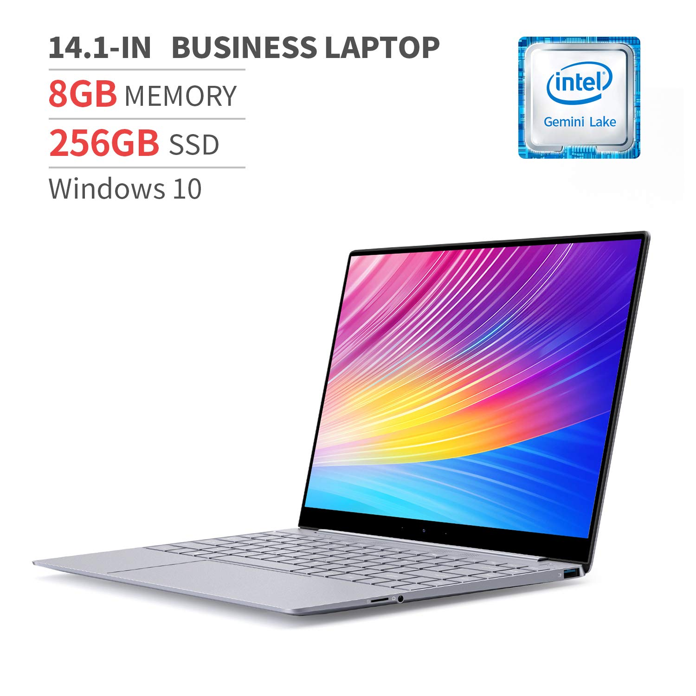 BMAX 14.1 Inch Windows 10 Laptop Computer, Intel Quad Core N4100, 8GB LPDDR4 RAM, 256GB M.2 SSD, LED-Backlit Keyboard, WiFi, Bluetooth, USB-C, Thin and Light All-Metal Body, Space Grey
