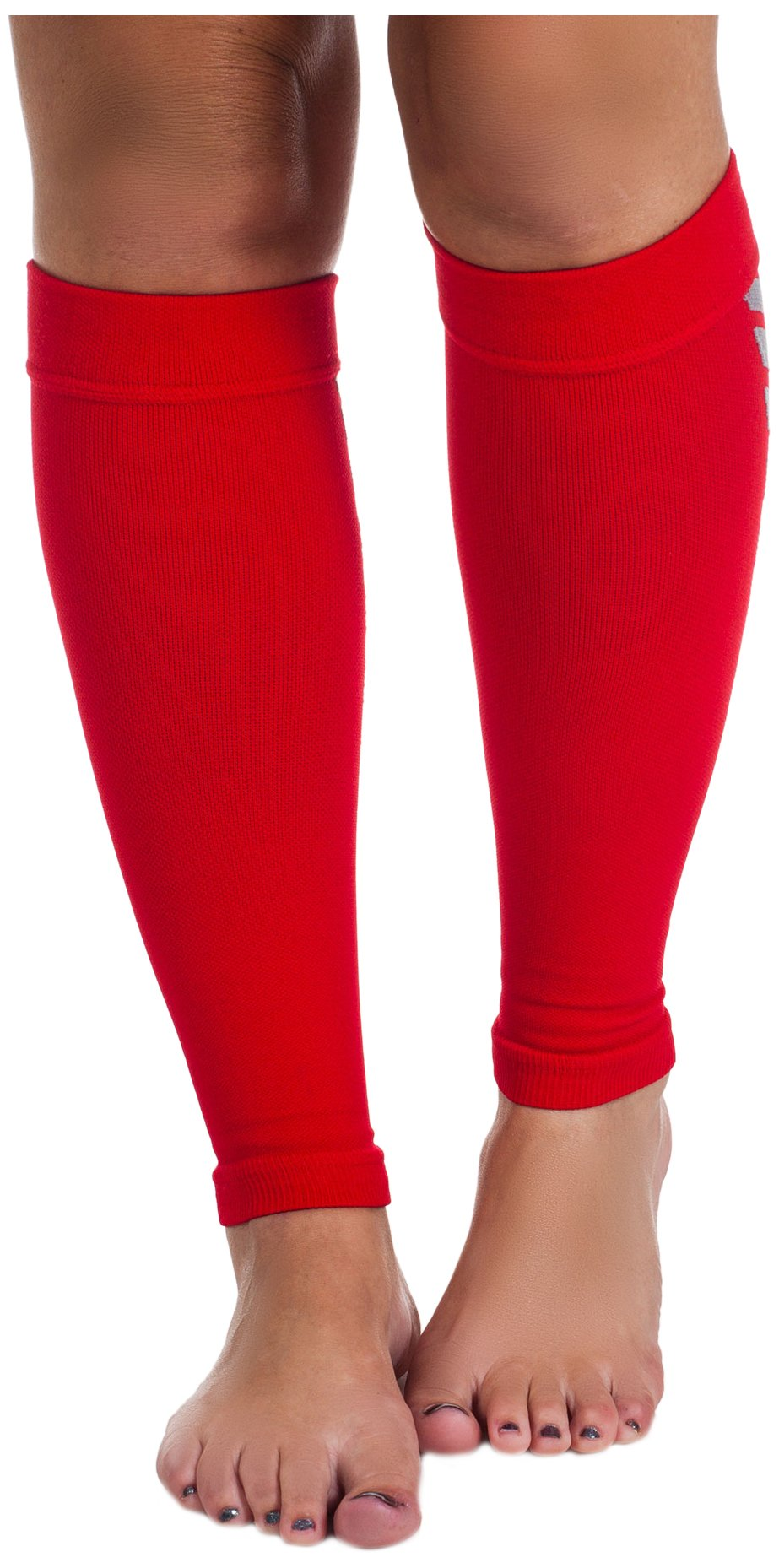 Remedy Calf Compression Sleeve Socks, Red, Large