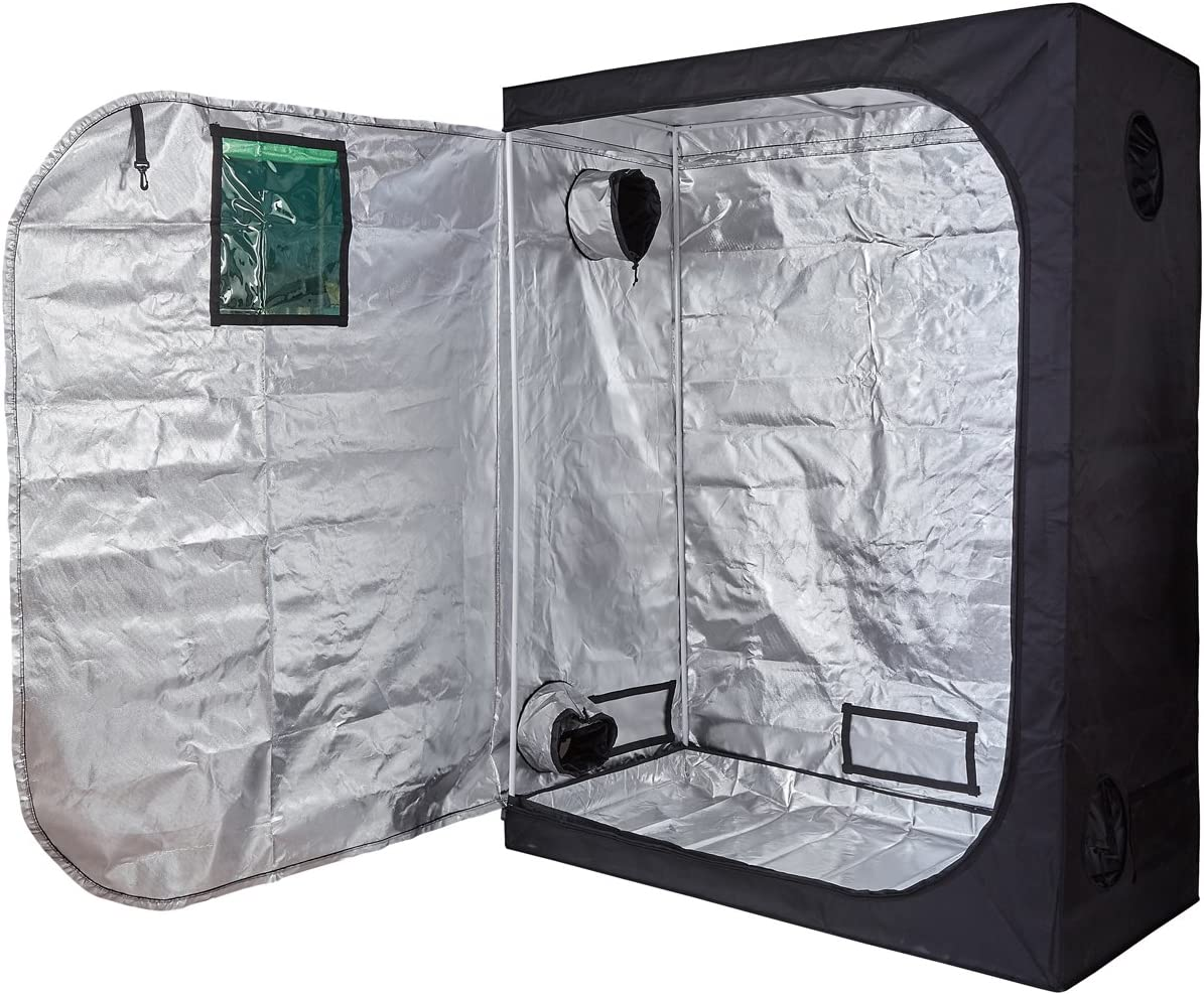 TopoLite 24 X24 X48 96 X48 X80 96 X96 X80 120 X60 X80 120 X120 X80 Indoor Grow Tent Dark Room Greenhouse for Hydroponic Garden Farm Mylar 60 X32 X80 Metal Corner Window