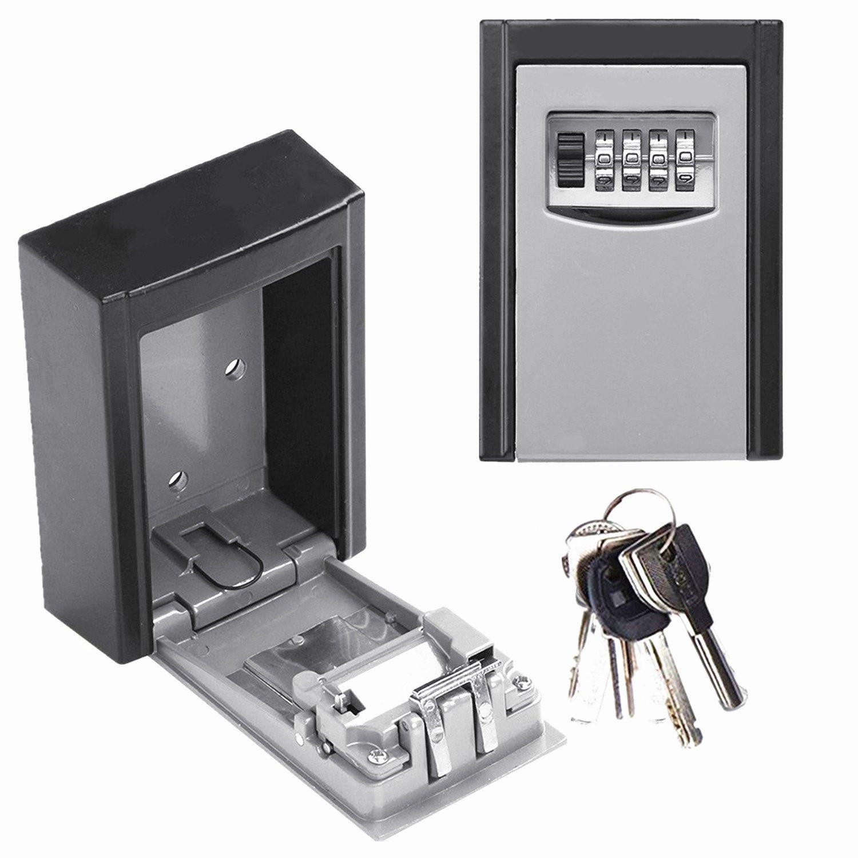 キーセーフボックス壁マウントWeather Resistant Secureボックスキーホルダーストレージ組み合わせキーロックストレージボックスインドアアウトドア 4.9 x 3.5 x 1.6 inch B071W2RBZN グレー グレー