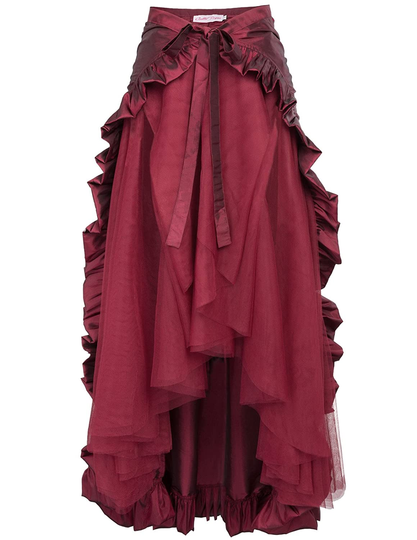 Belle Poque Steampunk Gothic Skirt Victorian Lolita Pirate Skirt BP206