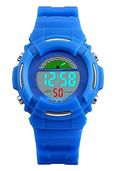 Niños Digital Relojes para niños Deportes al aire libre para niños – 5 ATM resistente al