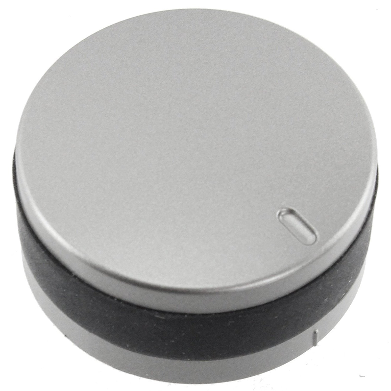 Pack of 2 Spares2go Silver//Black Switch Knobs for Lamona Hob Oven Cooker