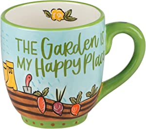 Glory Haus: Happy & Uplifting - Ceramic Mugs 16 oz (The Garden is My Happy Place)