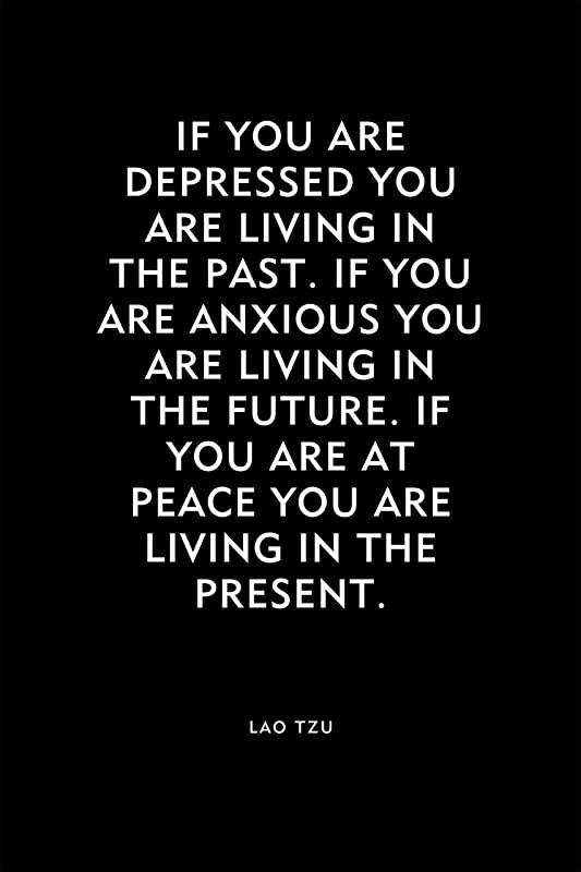 """Lao Tzu Quote 2 /""""If you are depressed.../"""" Photo Art Print Gift"""